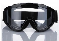 护目镜防护眼镜防护眼罩 防尘防风镜防冲击防风沙尘劳保厂家直销 黑色 均码