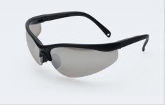 厂家批发防护眼镜 防爆防冲击护目镜 摩托骑行镜防风镜 劳保眼镜 黑框透明 均码