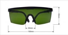 厂家直销激光防护眼镜医用护目镜 劳保眼镜 防风沙摩托眼镜 黑框红镜片 均码