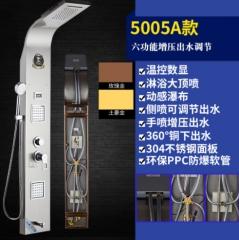 厂家直销淋浴屏数显花洒套装304不锈钢浴室多功能淋浴器