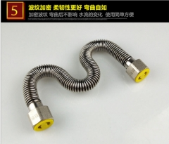 4分304无缝焊接波纹管 高压防爆热水管 太阳能热水器不锈钢进水管 30cm