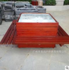 街道花箱 围树椅装饰花箱 绿化城市环境 1600*1600*700 1