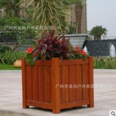 户外花箱 实木制作 可种植树木和花草箱 1000*1000*700 1