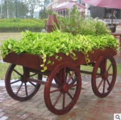 厂家直销防腐木花车 适用于小区 园林 公园 1800*800*800 1