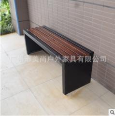 景区休闲座椅 钢木结构公园椅 防腐木条户外椅 1.5米 1