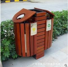 进口木垃圾桶 厂家直销 花园小区垃圾桶 800*400*900 1