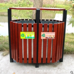 户外进口木垃圾桶 款式可按来图定制 挂式结构垃圾桶 800*400*900 1