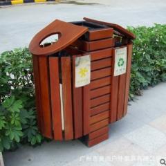 户外休闲垃圾桶 进口木垃圾桶批发 量大从优 800*400*900 1