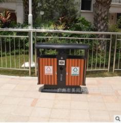 别墅垃圾桶 钢木结构户外垃圾桶 厂家批发 量大从优 800*400*900 1