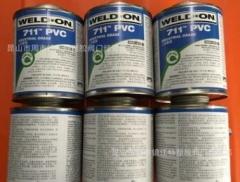 IPS WELD-ON PVC711胶水 PVC管胶粘剂 灰色胶水 快干胶水946ML/桶 473毫
