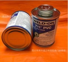 UPVC胶水 IPS 711 PVC进口管道胶粘剂 粘结剂 WELD-ON 946ML/桶 946M