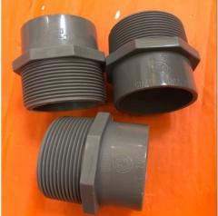 华亚PVC异止阀 UPVC外丝直接 PVC-U异径外牙 塑料外牙直接D50*R2 50*2寸