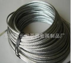 厂家供应涂塑 PVC包胶不锈钢钢丝绳 不锈钢丝绳 不锈钢圈