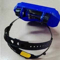 热销太阳能自动变光电焊面罩头戴式轻便电焊帽