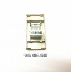 厂家批发供应118型V大金系列 中宏香槟金电脑插座模块 ≥100 个