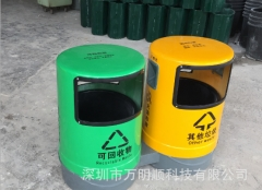 供新款户外款分类环保垃圾桶 佛山大沥分类垃圾桶果皮箱