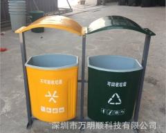 大容量户外双分类果皮箱 市政道路用环保玻璃钢果皮箱