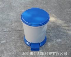 供应8L脚踏圆形塑料垃圾桶 酒店 客房 办公室带内胆脚踏卫生桶