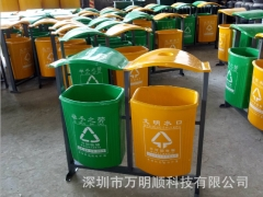专业生产户外专用分类果皮箱 抗老化带烟灰缸环保分类垃圾桶