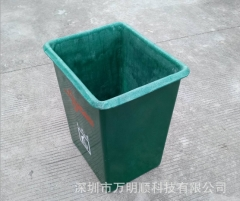 供广东高速公路用户外垃圾桶 方形果皮箱 玻璃纤维果皮箱