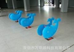 厂家供户外儿童游乐设施 带弹簧儿童摇摇乐 鲸鱼摇摇乐