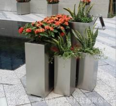 定做各种高档不锈钢花盆 广场不锈钢花盆花槽 售楼部组合花盆