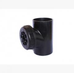 供应PE立管检查口 HDPE同层虹吸排水管 90度热熔焊接立检口 可定制