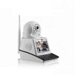 高清网络摄像机 视频通话联动报警 ip camera无线视频监控摄像头 白色