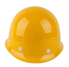 亿诚玻璃钢透气ABS加厚塑料安全帽建筑工程工地防护头盔可印字 高强ABS红 均码