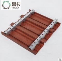 鲁卡生态木 100*25卡扣天花 餐厅酒店大型会所吊顶环保木塑材料