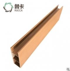 鲁卡生态木 150*50卡扣天花 餐厅酒店大型会所吊顶环保木塑材料