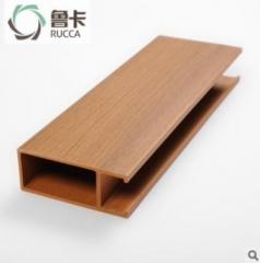 鲁卡生态木 40*100卡扣天花 餐厅酒店大型会所吊顶环保木塑材料