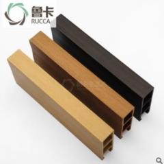 鲁卡生态木 25*80卡扣天花 餐厅酒店大型会所吊顶环保木塑材料