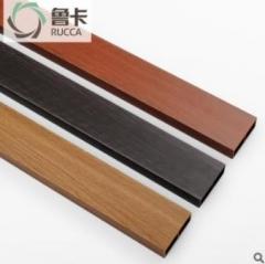 厂价直销生态木76x25方木生态木方通格栅天花 隔断吊顶装饰环保