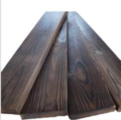 厂家直销碳化木 花旗松炭化木防腐地板装修户外碳化木板