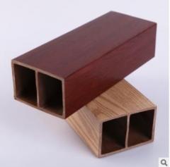厂家直销 75X50生态木方木方通 新型环保吊顶玄关立柱装饰材料