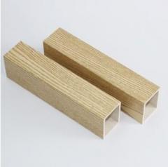 40*50生态木方木方通 大厅装修隔断吊顶棚格 绿可木环保装修材料