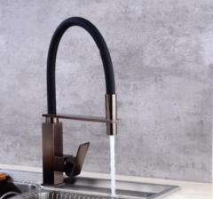 家装建材水暖五金批发销售欧式黑古电镀拉丝全铜水槽厨房水龙头