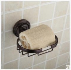 欧式简约复古仿古全铜皂盒皂网毛巾架ORB卫浴用五金挂件浴室挂件