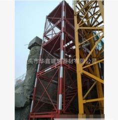 挂网式安全爬梯 桥梁施工安全梯笼 组合框架式梯笼 基坑梯笼 爬梯