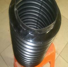 机床丝杠伸缩防护套 圆筒式橡胶丝杠防护罩 一字型风琴防护罩 1-9 件