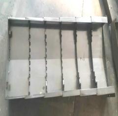 机床设备伸缩防护罩 钻工中心YZ护板龙门铣床不锈铁钢板防护罩 1-9 件