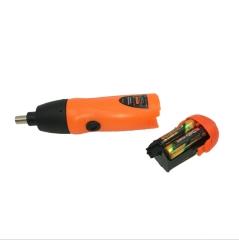 工厂直销 电动螺丝刀 五金工具多功能迷你套装 家用小型干电池 橘色不带包胶11个配件