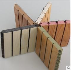 厂家直销吸音板密度板 墙面家装建筑装修隔音板吸声材料 2440*132*12mm