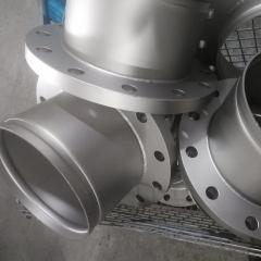 304不锈钢沟槽法兰转换接头 DN100