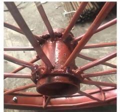 斗车轮建筑专用 U型斗车轮 钢筋打气斗车轮 多枝加边轮