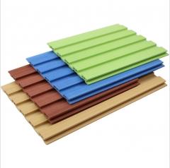 临沂绿可木厂家批发 墙裙pvc办公室吊顶 生态木150加筋小长城板 150mm*8mm