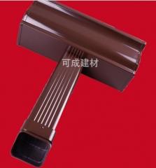 2.0mm厚高档彩铝成品天沟 檐沟 别墅落水系统