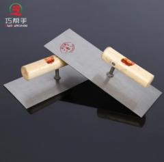 厂家直销锰钢方头形平抹子抹泥板木制手柄泥瓦工 工字型抹泥板