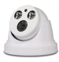 超市高清1080P数字网络摄像机夜视H.265室内200W半球监控摄像头